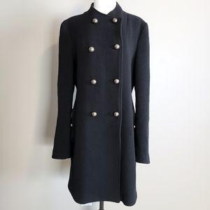 Aritiza Talula wool coat Large black brass buttons